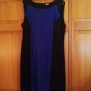 Calvin Klein black & blue dress